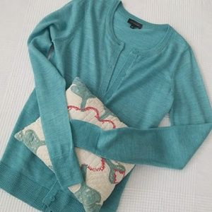 THE LIMITED turquoise cardigan